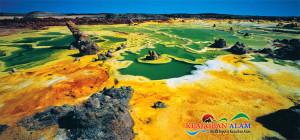 Kawah Hijau Menakjubkan Yang Berada di Salah Satu Tempat Terpanas Didunia