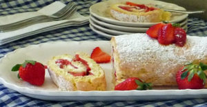 Dessert Strawberry Jelly Roll