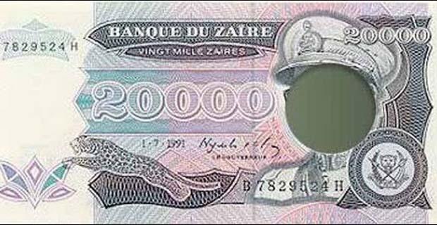 Modifikasi Uang Karena Kudeta (Zaire)