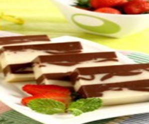 Resep Puding Cokelat Lapis Keju Lezat
