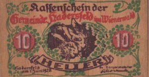 Uang dari lembaran kayu (Jerman)