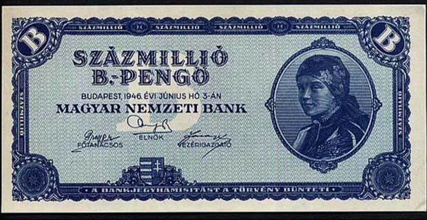 Uang Dengan Pecahan Terbesar (Hungaria)