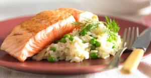 Masakan Salmon Risotto