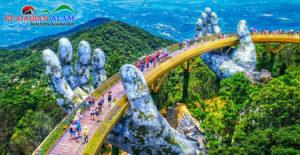 Menyibak Keindahan Objek Wisata Jembatan Emas 'Tangan Tuhan' di Vietnam