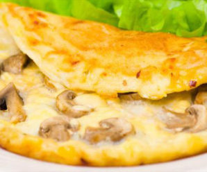 Resep Sederhana Omelet Keju Jamur, Lembut Banget!